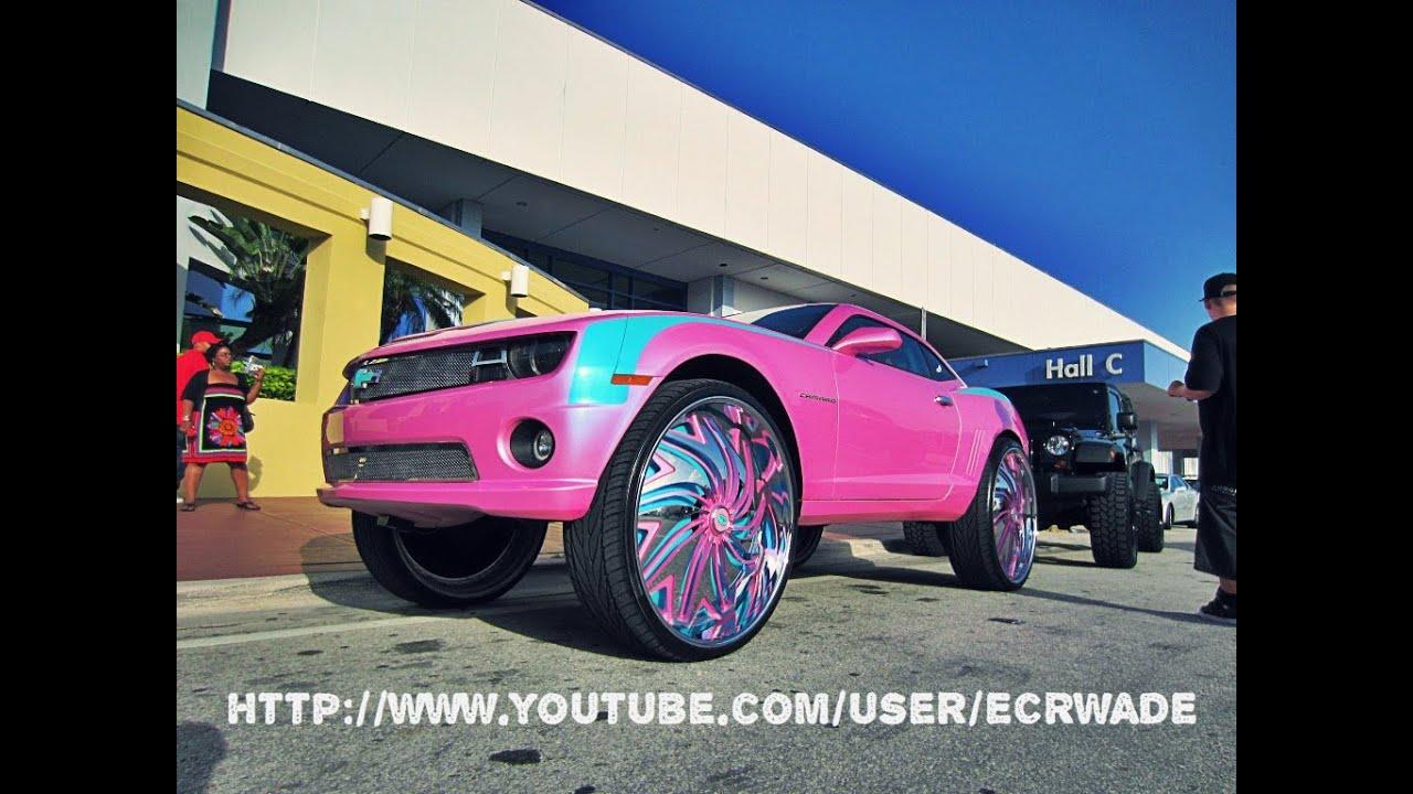 Miami Pink Outrageous Camaro On 32 Davinsat Forgiato Fest 2k12