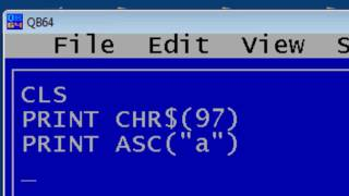 QBasic Tutorial 24 - ASCII Program - Separating Letters, Numbers, And Other Characters - QB64