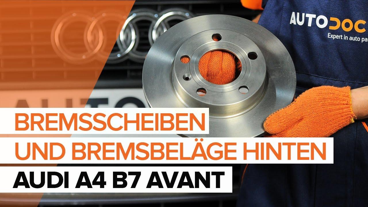 AUDI A4 Avant 8ED 2.0 TDI quattro 4 Bremsbeläge Bremsklötze hinten Hinterachse