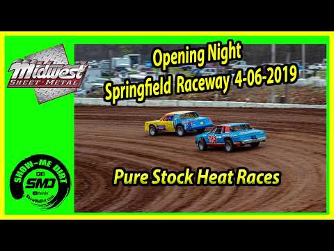 S03 E177 Pure Stock Heat Races  Opening Night Springfield Raceway 4-06-2019 #DirtTrackRacing