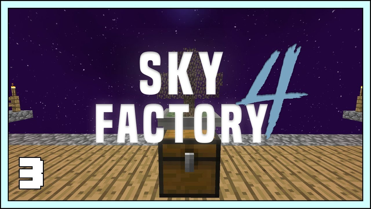 Sky Factory 4 Ep3 Hopping Bonsai Pots Modded Minecraft 1 12 2 Youtube