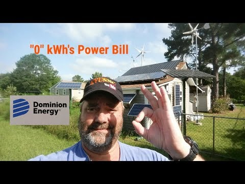 Solar And Wind Home Power Bill $8.41 /
