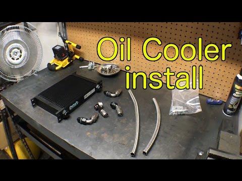 Evo oil cooler install - Schrage's Garage #5