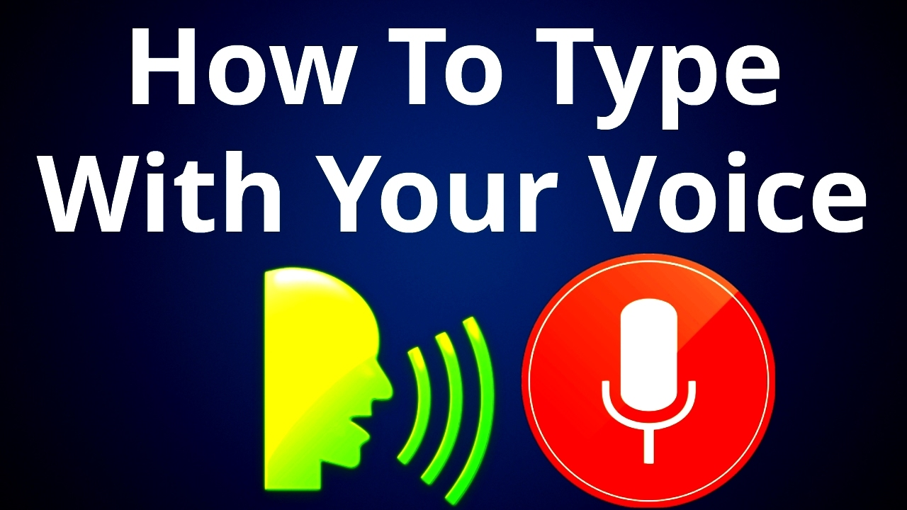How To Type With Your Voice - No Keyboard Needed - Speech To Text