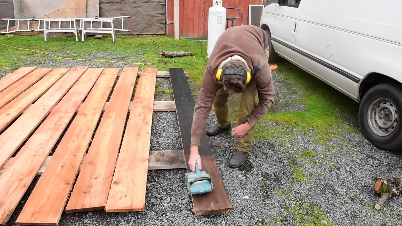 Ftf 41 Burnt Wood Siding Technique How To Youtube
