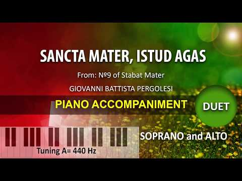 Sancta Mater, istud agas / Karaoke piano: duet for Soprano and Alto