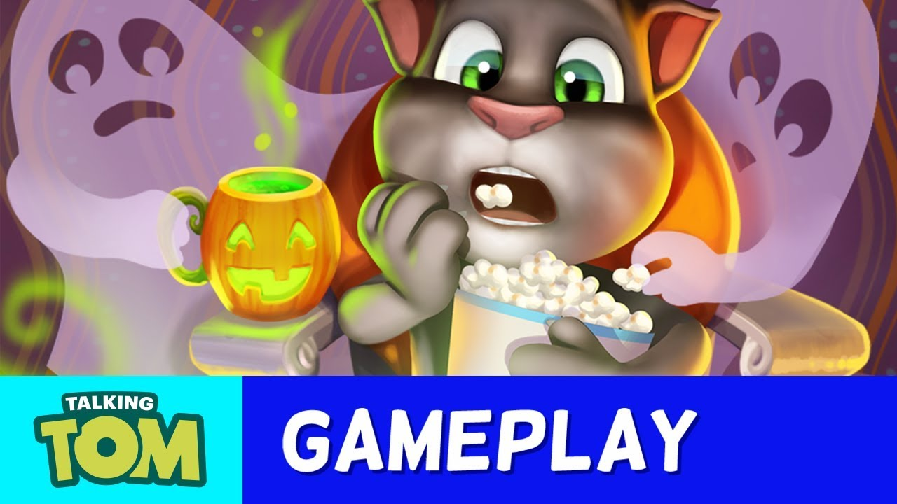 halloween magic in my talking tom (new update) - youtube