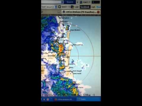Brisbane radar 5th Jan 2011 10pm