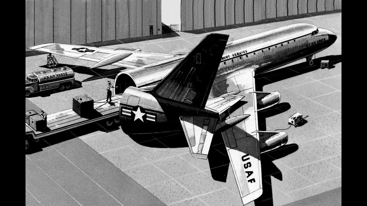 mats convair cv-990  u0026quot swing-tail u0026quot  jet freighter