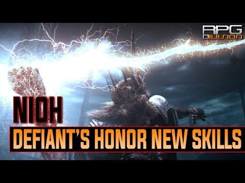 Nioh - New Ninja & Onmyo Magic Skills Showcase (Defiant's Honor New Skills Tutorial)