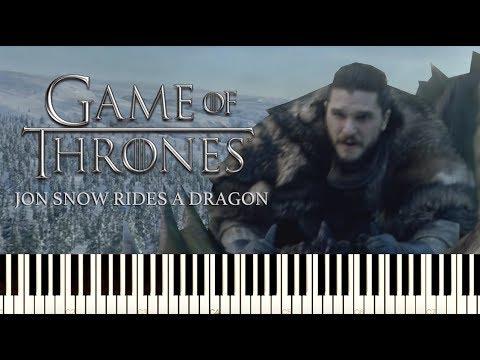 Game of Thrones - Jon Snow's Dragon Ride (Truth) - [Piano Tutorial] - Season 8 OST thumbnail