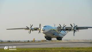 An-22 aircraft is take off