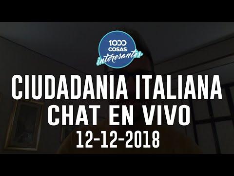 12-12-2018 Chat en vivo con Seba Polliotto - Ciudadanía Italiana - 1000 Cosas Interesantes