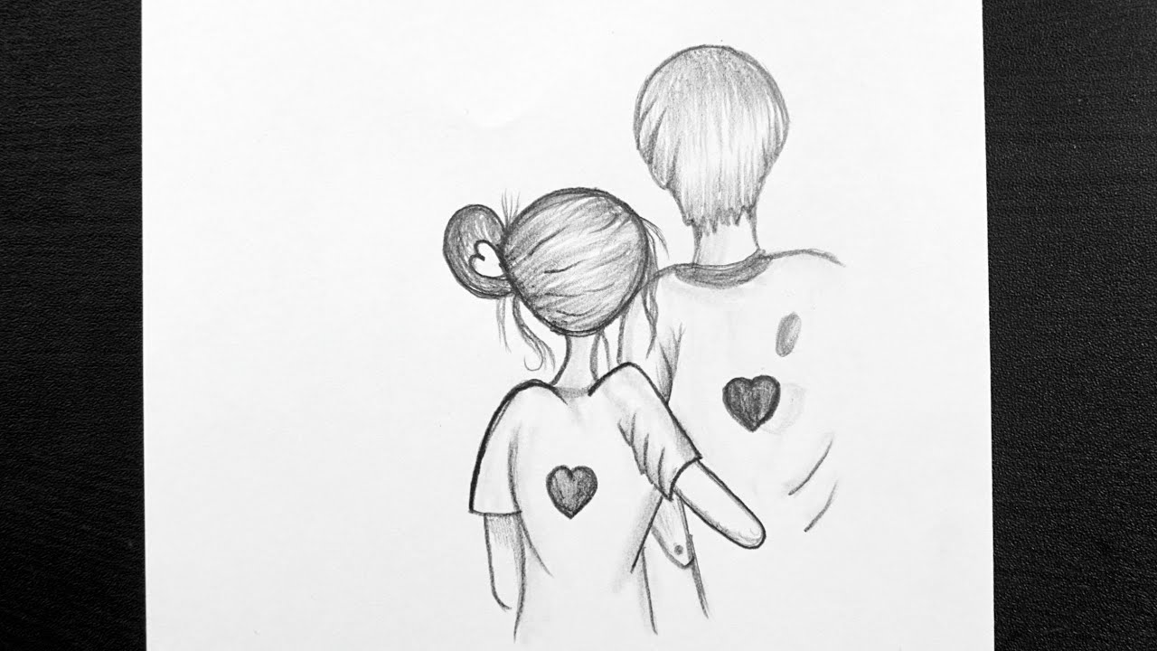 Beautiful Pencil Sketches Of Love Couple How To Draw Couple Drawing With Pencil Youtube