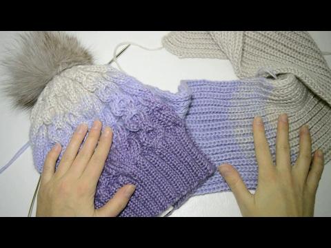 МК Шапки бини крючком: узор плетёнка и узор ракушки
