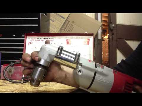 Milwaukee 1/2 right angle drill a real wrist buster