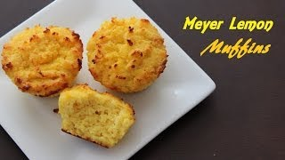 [paleo Cooking] Meyer Lemon Muffins