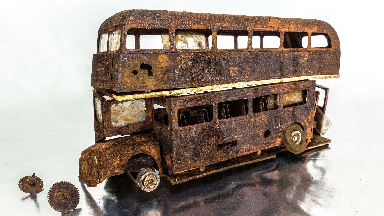 Download Double decker bus Restoration Rusty Abandoned model
