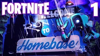 [1] Welcome To Homebase! The Fortress of Lootitude!!! (Let's Play FortNite Multiplayer)