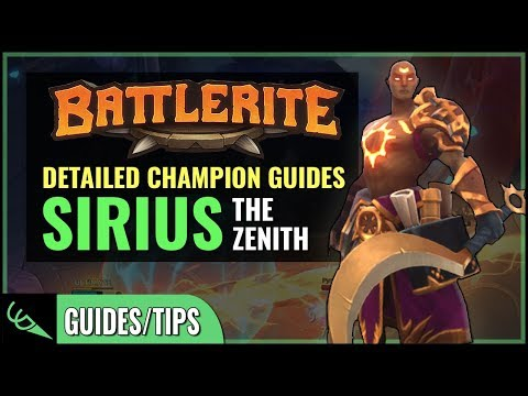 Sirius Guide - Detailed Champion Guides | Battlerite (Early Access)