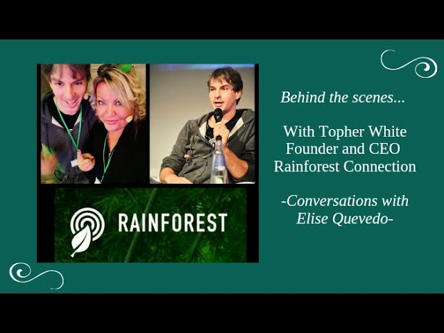 Behind the Scenes with Topher White, Founder & CEO Rainforest Connection
