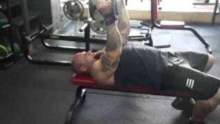 Rolling Dumbbell Extensions - Triceps Exercise