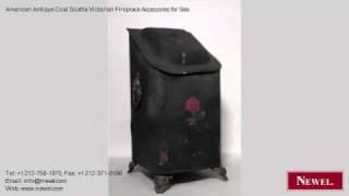 American Antique Coal Scuttle Victorian Fireplace Accessorie
