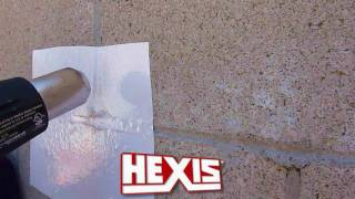 """Hexis VCSR Cast Wall Wrap Vinyl with """"Stick to Anything"""" adhesive"""