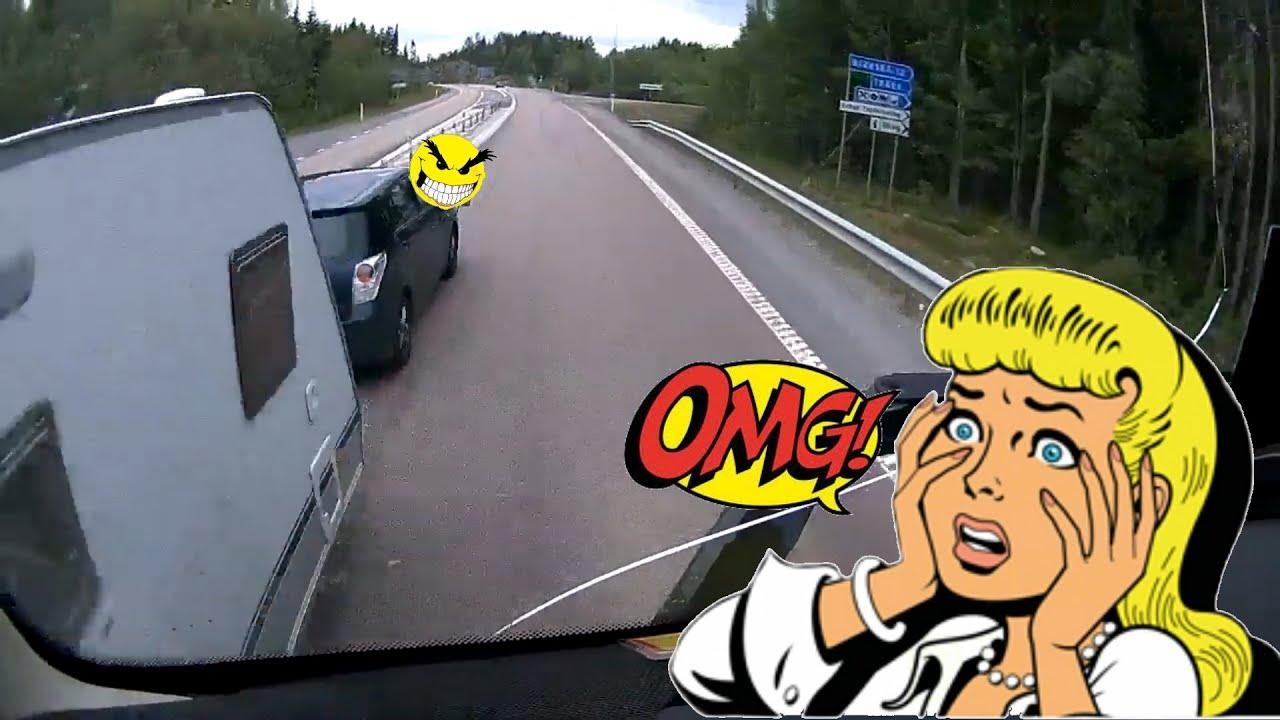 Crazy Caravan vs. Truck + More Insane Stuff from the roads!