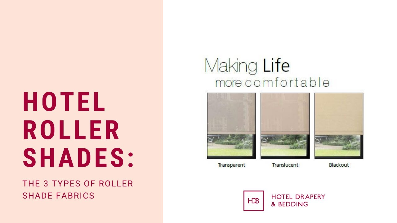 Why You Need To Know The 3 Types Of Roller Shade Fabrics!