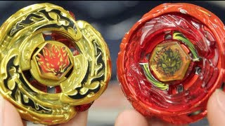 LIMITED EDITION BEYBLADE BATTLE: Diablo Nemesis DRAGREN Vers. VS L-Drago Destroy GOLDEN Vers.