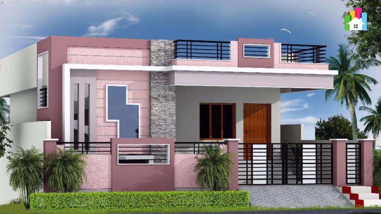 Single Floor Low Budget Normal House Front Elevation ...