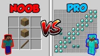 Minecraft NOOB vs. PRO: CRAFTING in Minecraft!