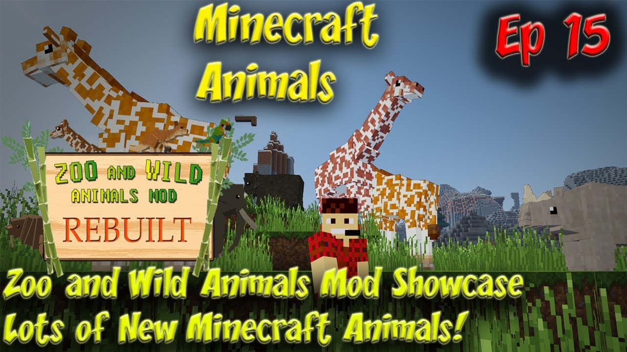 Zoo & Wild Animals Mod Showcase Minecraft Animals Ep15