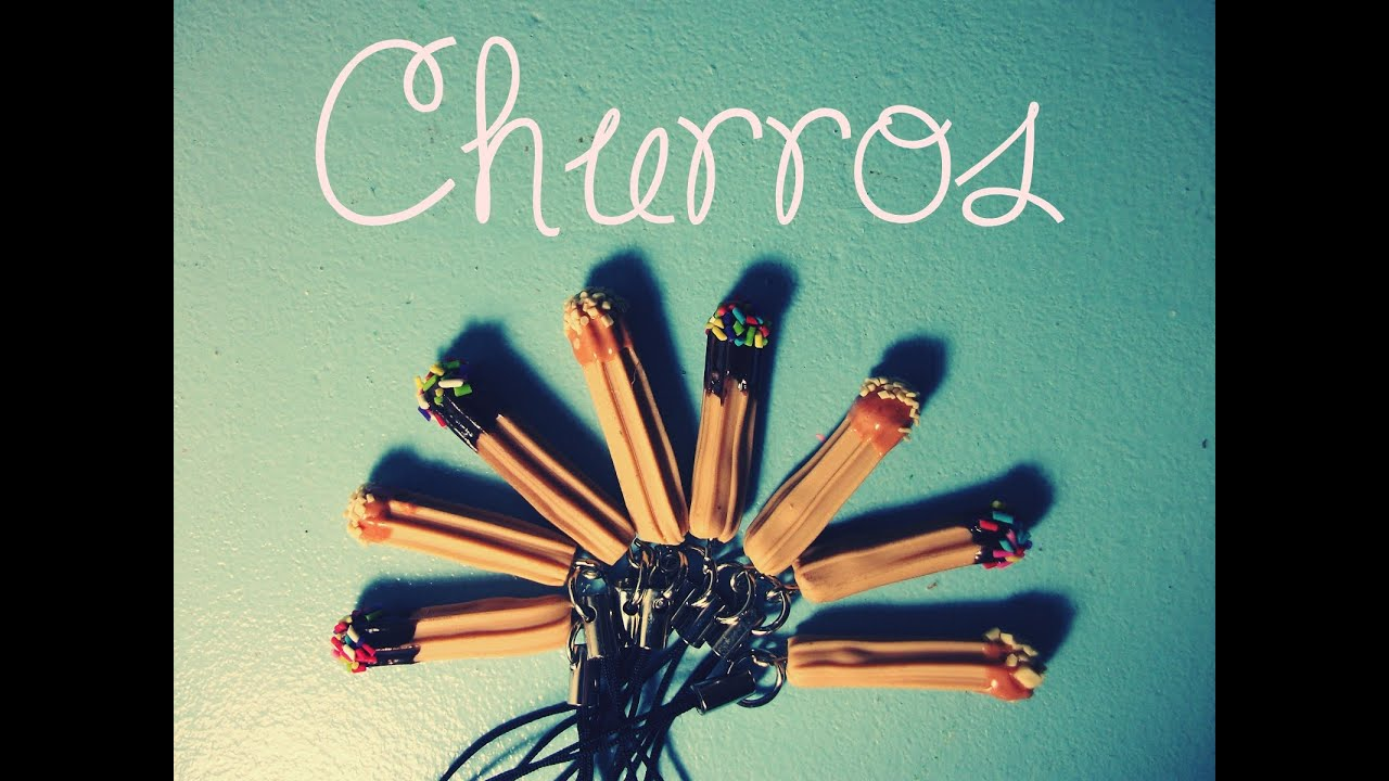 Tutorial de biscuit] Churros (≧∀≦)/ Polymer Clay / ポリマー ...