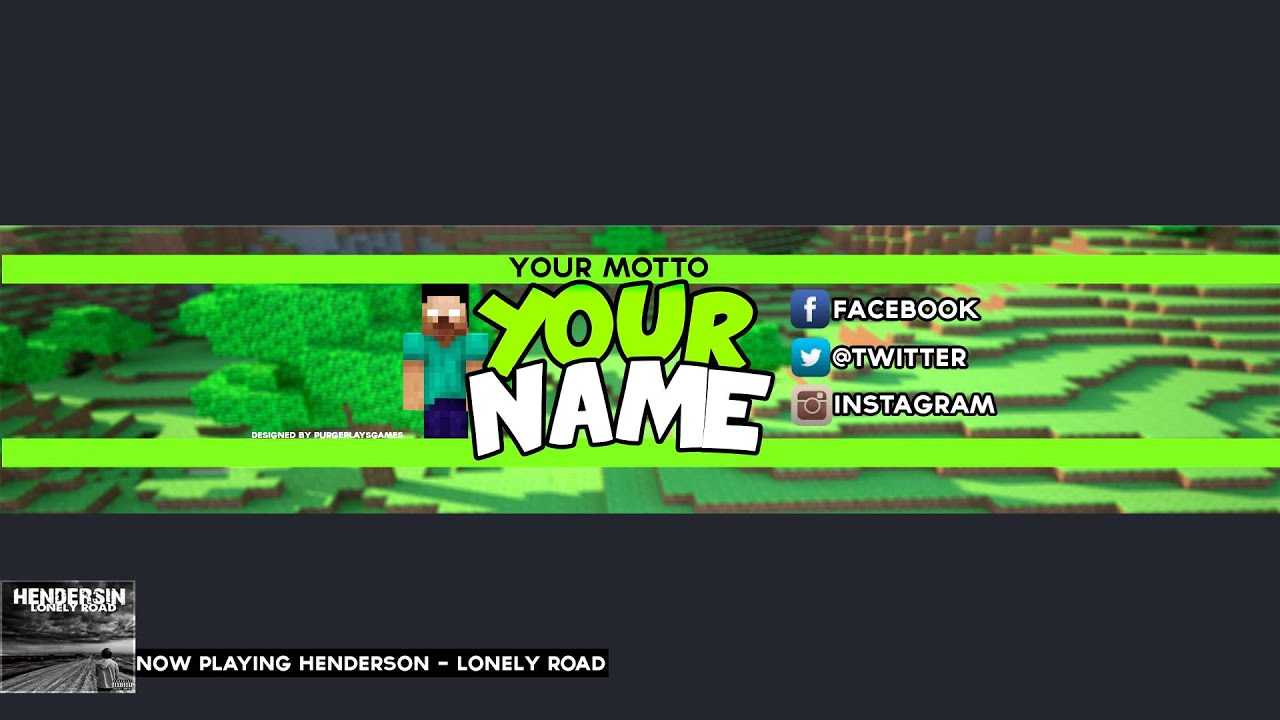 Free minecraft youtube bannerchannel art template psd download free minecraft youtube bannerchannel art template psd download youtube pronofoot35fo Images
