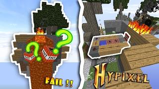 SECRET TNT CANNON TRAP ( MÁY BẮN TNT BÍ MẬT ) l Minecraft SKYWARS TROLL #2
