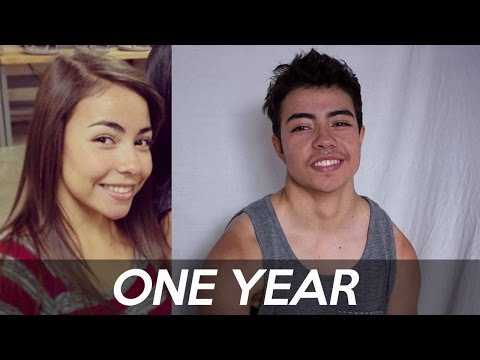 PRE-T to ONE YEAR ON TESTOSTERONE COMPARISON // FtM TRANSGENDER | RyanJacobs