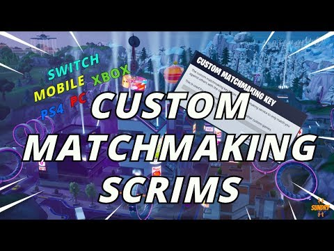 fortnite custom matchmaking key not supported
