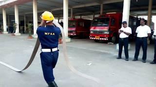 Maharashtra Fire Service, Mumbai Fire Brigade Hose Drill, Fire service.