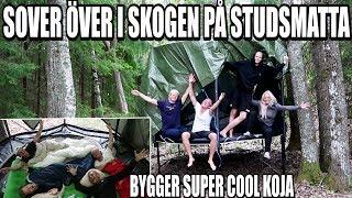 SOVER ÖVER I SKOGEN PÅ STUDSMATTA *BYGGER SUPER COOL KOJA*