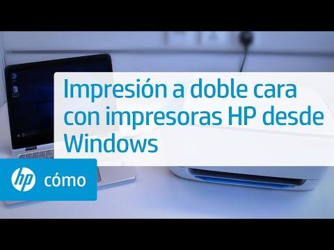 Impresión a doble cara con impresoras HP desde Windows | HP Computers | HP