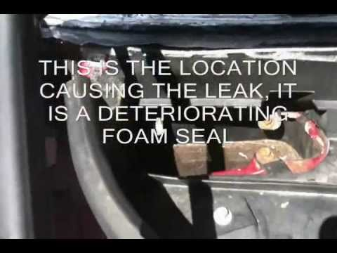 How To Stop Water Leaking Inside Lincoln Town Car  U0026 Stop
