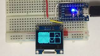 I2C 0.96'' and 1.3'' OLED sample via one dollar STM8S103F3 board