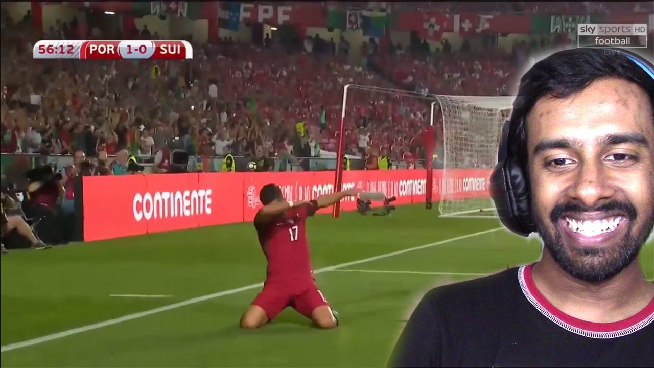 portugal vs switzerland 2-0 - wc qualification 2017  2018 - highlights hd reaction