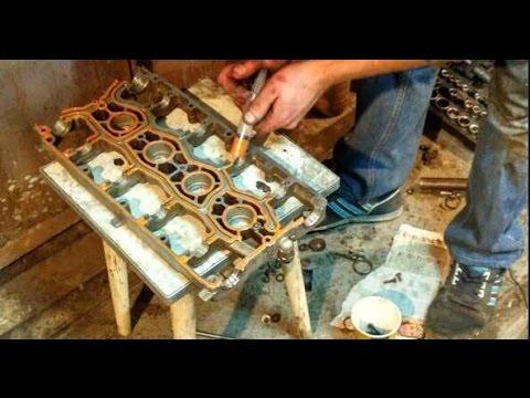 Сборка Двигателя 21124(герметик Loctite,  самодельные съемники клапанов )
