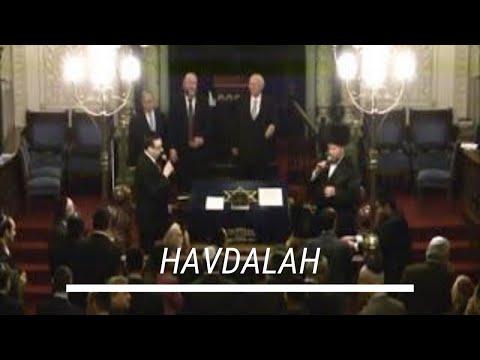 Havdalah at Park East Synagogue