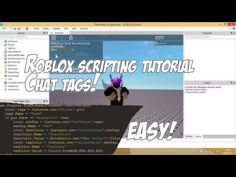 Roblox Custom Chat Tags Scripting Tutorial Youtube