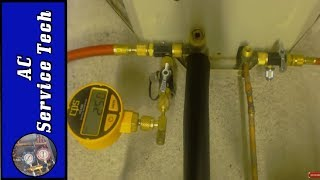 Vacuum Pump AC Lines and Break the Vacuum with Refrigerant: Setup, Micron Level, Weighing