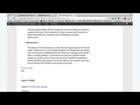 CISS 100 Web Design Intro